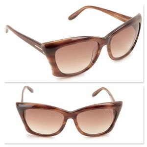 New TOM FORD Lana Brown Oversized Sunglasses